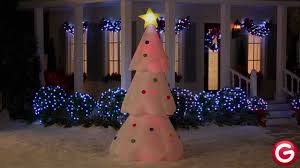 Color Changing Christmas Trees - gemmy airblown inflatable lightshow color changing tree youtube