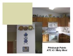 crisp and comfortable wall color idea for repainting my kitchen