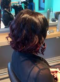 pictures of black ombre body wave curls bob hairstyles short haircut ombré dark cherry curly hair bob cheveux