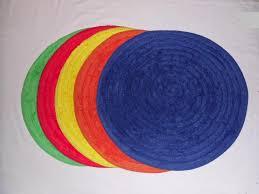 Ikea Circular Rugs Bath Mat Poppy Red Colour 100 Cotton Absorbent Anti Slip