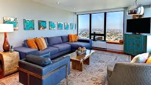 brown and blue home decor blue and orange living room modern interior design and home