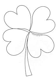 4 leaf clover template st s day coloring page