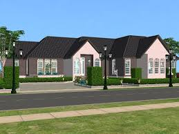 Single Story Houses Mod The Sims Crystal Cloud Avenue A Single Story House With