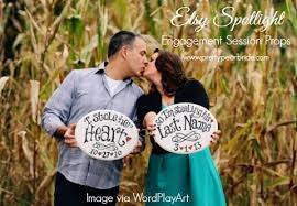 engagement photo props etsy spotlight engagement session props the pretty pear