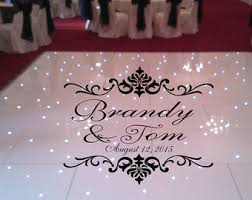 regal theme dance floor decal wedding day fancy