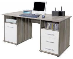 top office bureau penta chêne foncé blanc largeur 145 cm