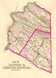 Map Of Pa Counties Lebanon County Warrantee Index 1875 Atlas