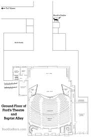 ground floor of ford u0027s theatre and baptist alley plan boothiebarn