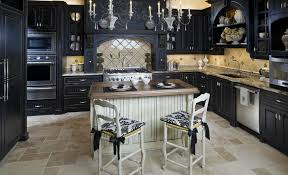 Distressed Black Kitchen Island One Color Fits Most Black Kitchen Cabinets