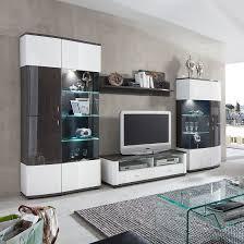 Wohnzimmerschrank 70 Jahre Grau Hochglanz Wohnwand Preisvergleich U2022 Die Besten Angebote