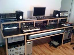 bedroom studio desk music producing desk hackers home recording