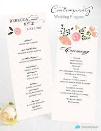 program for wedding ceremony template wedding program wording magnetstreet weddings