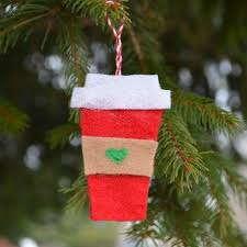 felt ornaments felt coffee cup ornaments one artsy