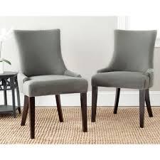 linen dining chair safavieh lester granite linen dining chair set of 2 mcr4709b