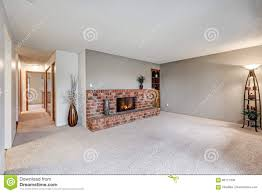 empty living room features grey walls stock photo image 86177308