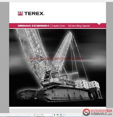 terex mobile and crawler crane full set shop manual dvd auto