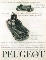peugeot ad peugeot of america ads 1958 u201361 fonts in use