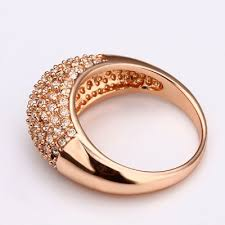 simple rings gold images Fine us8 rhinestone crystal simple ring with 18k rose gold plated jpg
