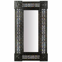 Narrow Wall Mirror Mexican Punched Tin Mirrors Rectangular And Square