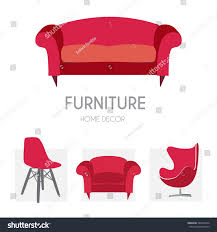 Home Decor Furniture Store Sofa Business Sign Set Vector Template Stock Vector 324226574