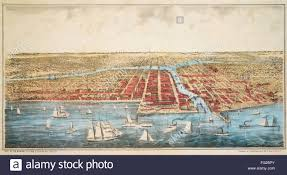 Map Of Chicago Illinois by Map Chicago C1857 Na Bird U0027s Eye View Map Of Chicago Illinois