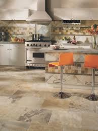 kitchen flooring sheet vinyl tile ideas stone look brown matte