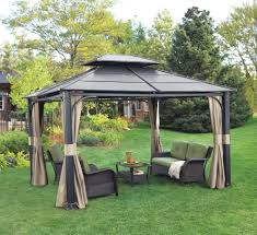 Outdoor Gazebo With Curtains by Diy Outdoor Curtains For Pergola Home Design Ideas