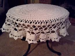 Crochet Table Cloth Dining Room The Elegant Round Tablecloth Pattern Attractive Filet