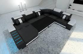 sofa mit beleuchtung luxus ecksofa echtleder wohnlandschaft bellagio deluxe sofa