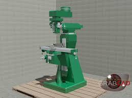 3d milling machine milling machine 3d cad model library grabcad