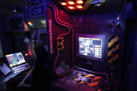 diy hackers built a giant spaceship simulator in the back of an rv