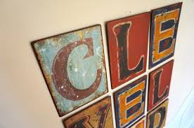 Letter Decoration Ideas by Wall Art Ideas Design Square Stained Letter Wall Art Varnished