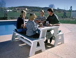Folding Bench Picnic Table Convert A Bench Picnic Table Two Benches Convert Into A Table