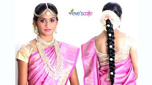 indian bridal hairstyle how to do south indian bridal hairstyle and makeup mugeek vidalondon