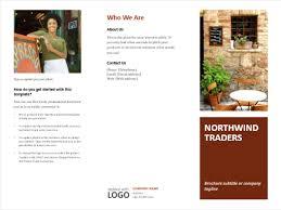 6 panel brochure template brochures office