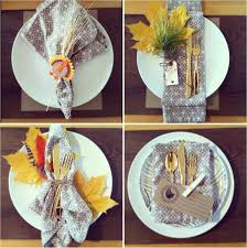 Thanksgiving Table Setting by Cute Thanksgiving Place Settings And I Love The Gold Utensils