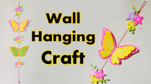 wall hanging craft with paper butterfly diy paper butterfly