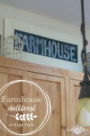 farmhouse chalkboard sign country design style