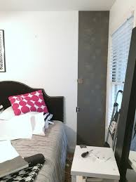 Temporary Bedroom Walls How To Apply Removable Wallpaper C R A F T