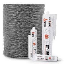 skd02 fiberglass fireplace dark gray 12 mm steigner seals