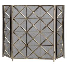 decmode home and hearth brass tin arrow fireplace screen hayneedle