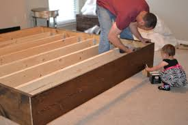 How To Build A Solid Wood Platform Bed by Bed Frames Rustic Platform Bed With Drawers Reclaimed Wood