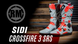 sidi motocross boots sidi crossfire 3 srs motorcycle boots youtube