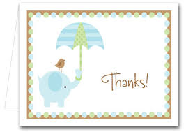 thank you cards for baby shower blue elephant baby shower folded note cards thank you notes