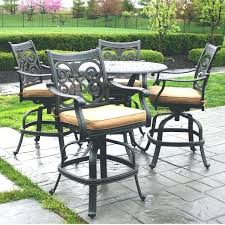 High Patio Dining Set Pub Height Chairs Lovable Pub Height Outdoor Dining Sets Outdoor