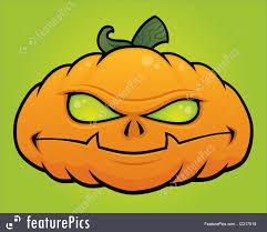 cute jack o lantern clipart fine art jack o lantern pumpkin monster stock illustration