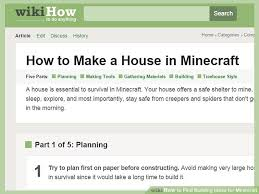 how to find building ideas for minecraft with pictures wikihow