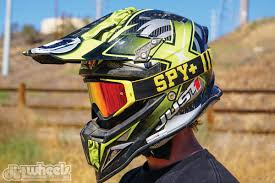 motocross helmets with goggles dirt wheels magazine gear grinder spy optics omen goggle