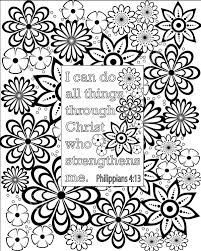 flower coloring pages bible verse coloring by grapevinedesignshop