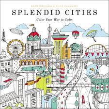 splendid cities color calm book coloring book